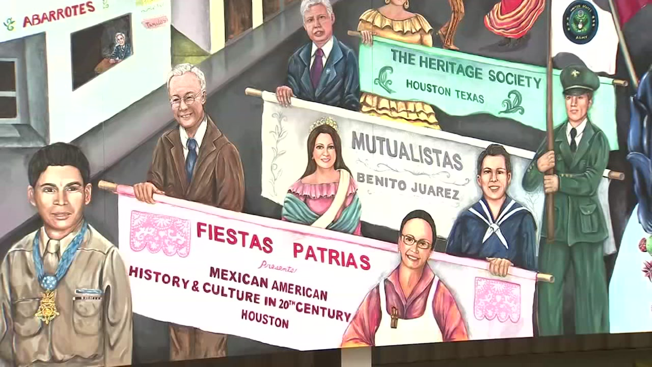 Mexican-American culture and history come alive in a new mural in the Houston area.