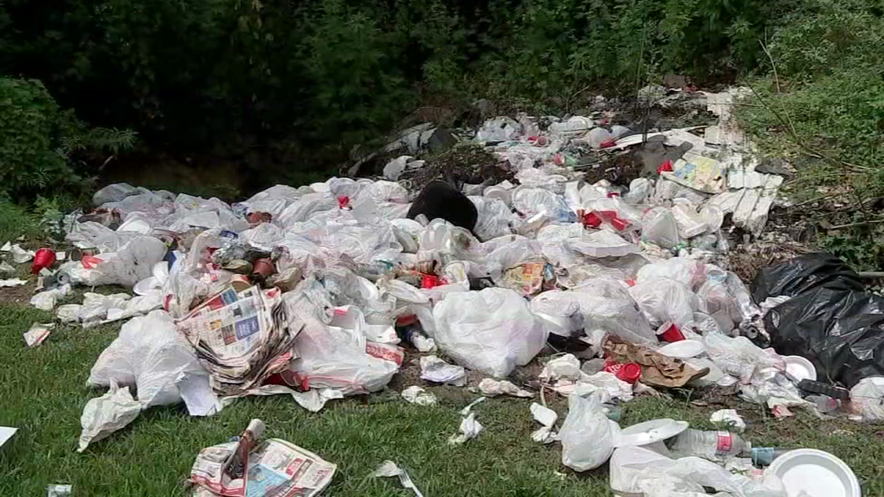 Trash dumped site near home in Crosby.