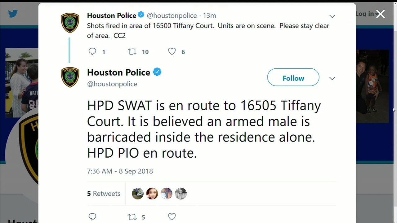 SWAT responding to man barricaded inside home