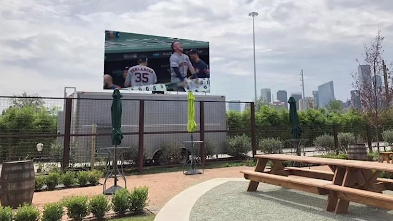 Saint Arnold Brewing adds big screen to outdoor area