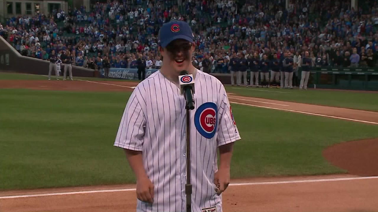 A fan with Down syndrome had his dream come true when he sang the national anthem at the Cubs game.