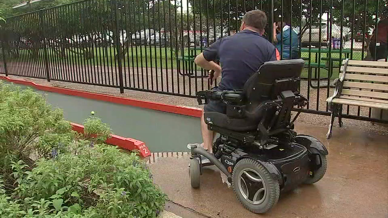 Man with cerebral palsy is shooting for his second trophy, at the Putt-Putt National Championship in Webster