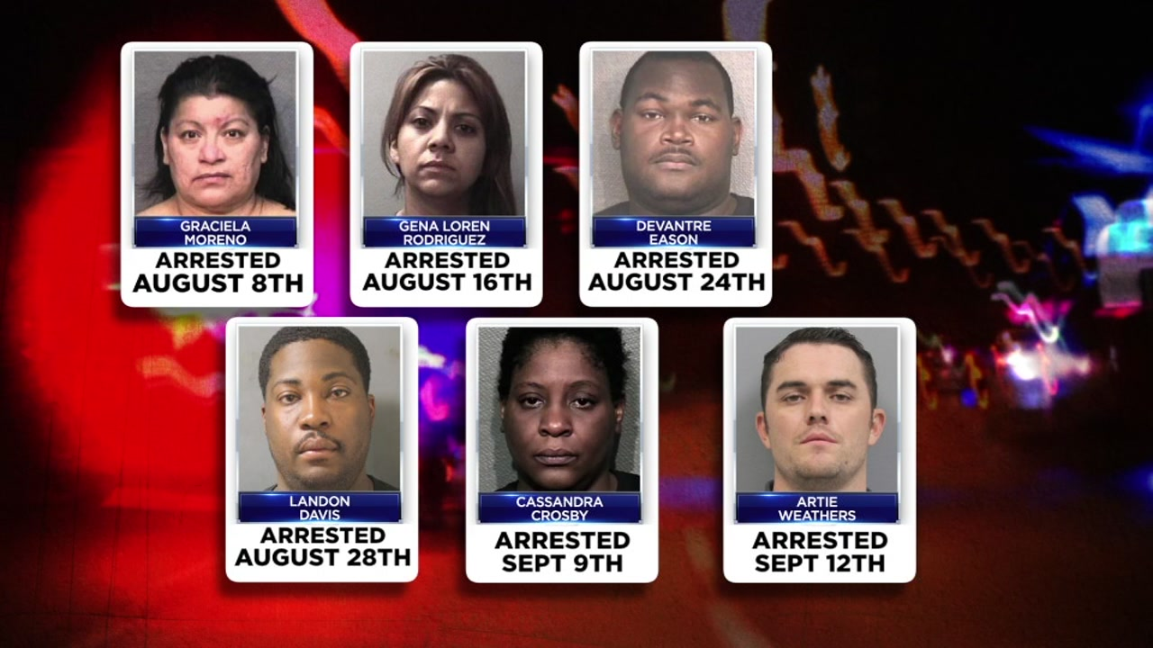 Six law enforcement officers have been arrested for DWI in a little over a month
