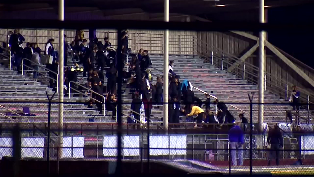 Shots fired near high school football game