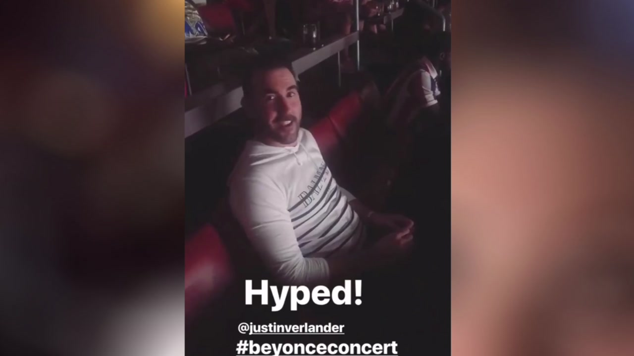 Justin Verlander and Kate Upton take in Beyonce and Jay-Z concert at NRG Stadium