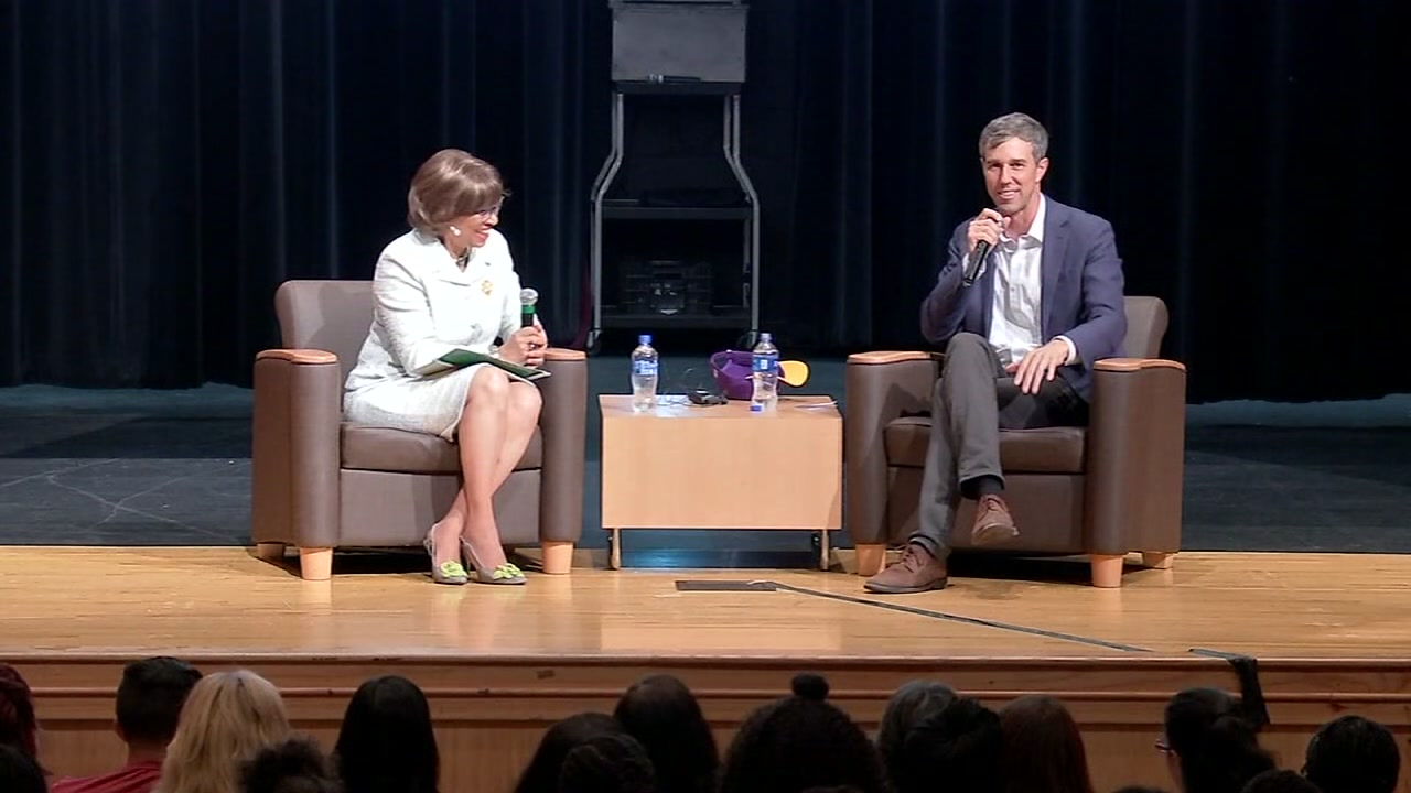 ABC13s Mayra Moreno reports from Prairie View A&M where Senate hopeful Beto ORourke appeared before a sellout crowd of students.