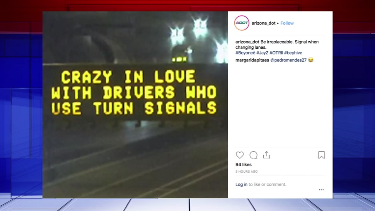 Beyonce and Jayz crazy in love highway sign