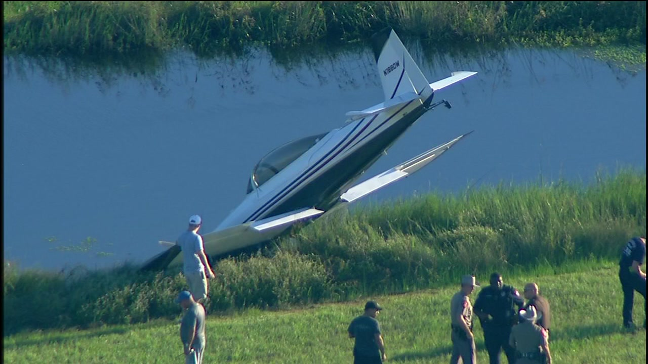 A plane ended up in a ditch after skidding off a runway apparently in Arcola.
