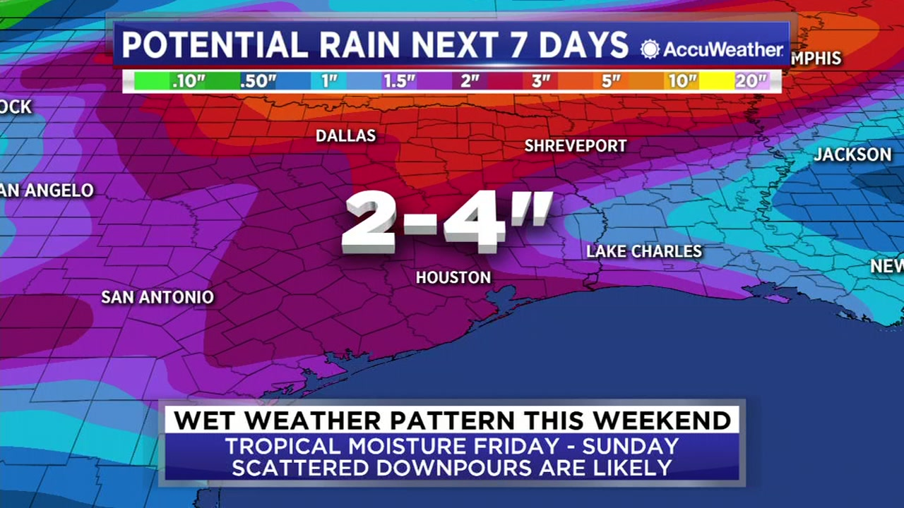 A wet weather pattern will return this weekend.