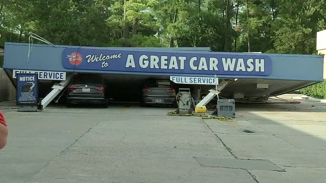 ABC13s Nick Natario reports from Conroe where car wash patrons recalled their horror of a canopy collapse amid bad weather.