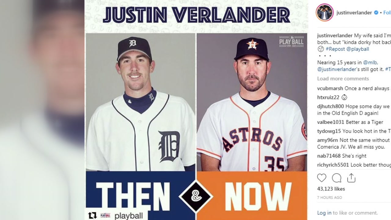 Apparently Houston looks good on Justin Verlander.