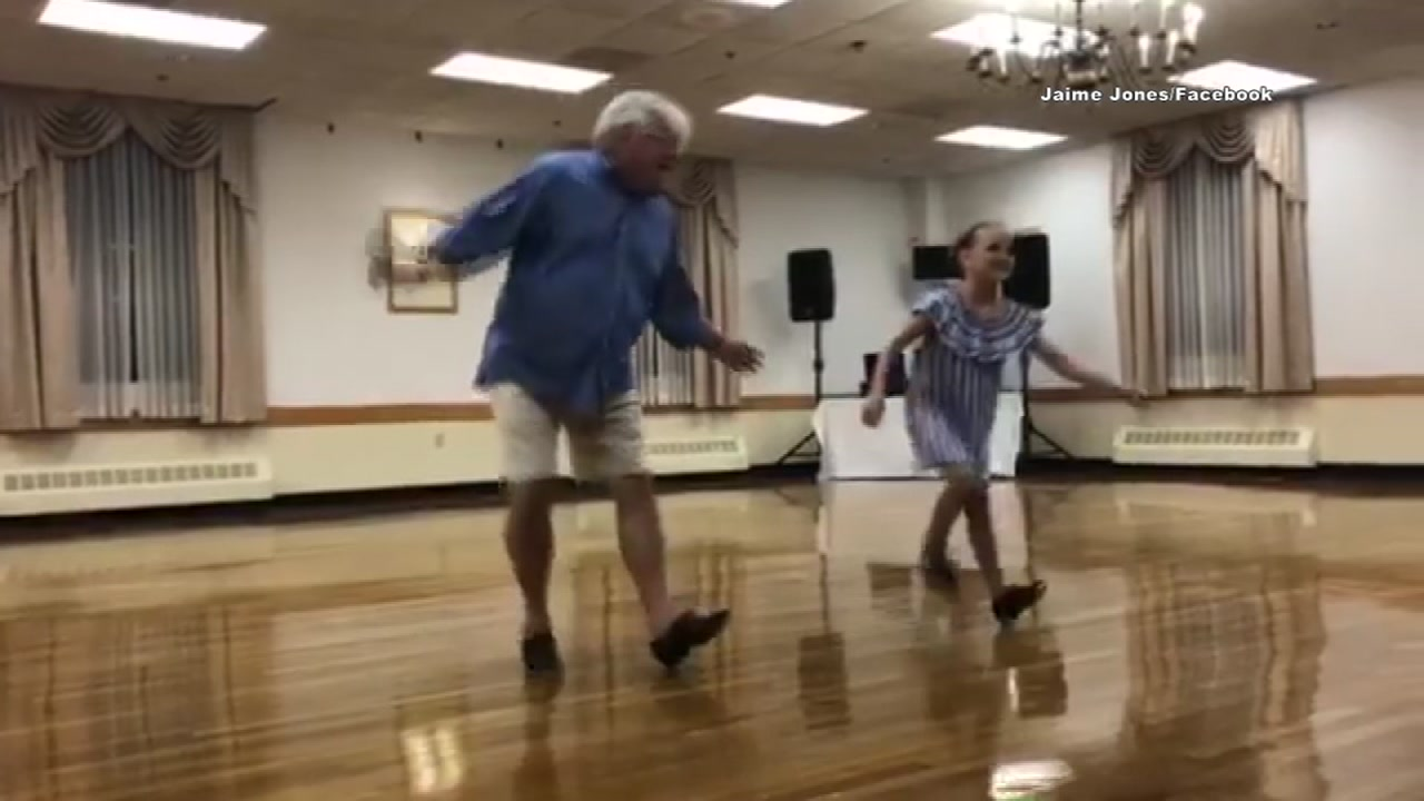This duo has gone viral for their adorable dance together.