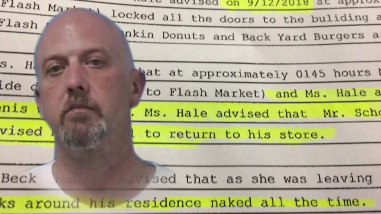 A man allegedly exposed himself to a co-worker.