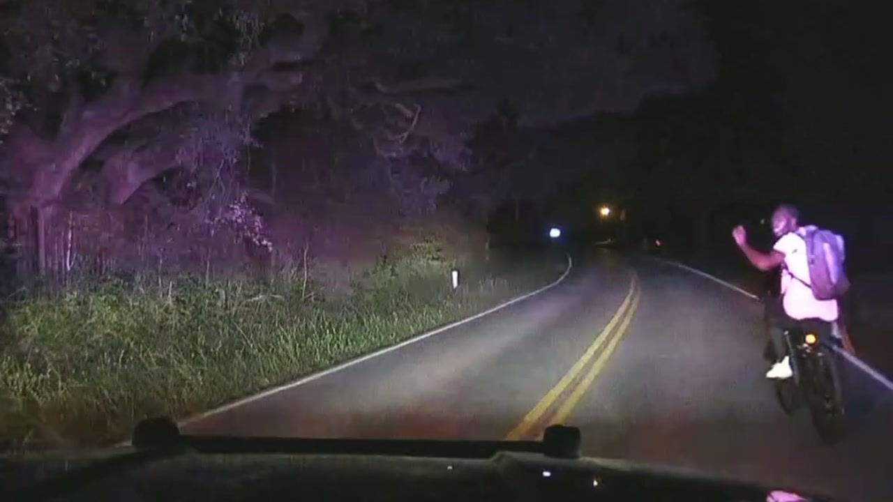 Man on stolen bike leads police on slow-speed chase