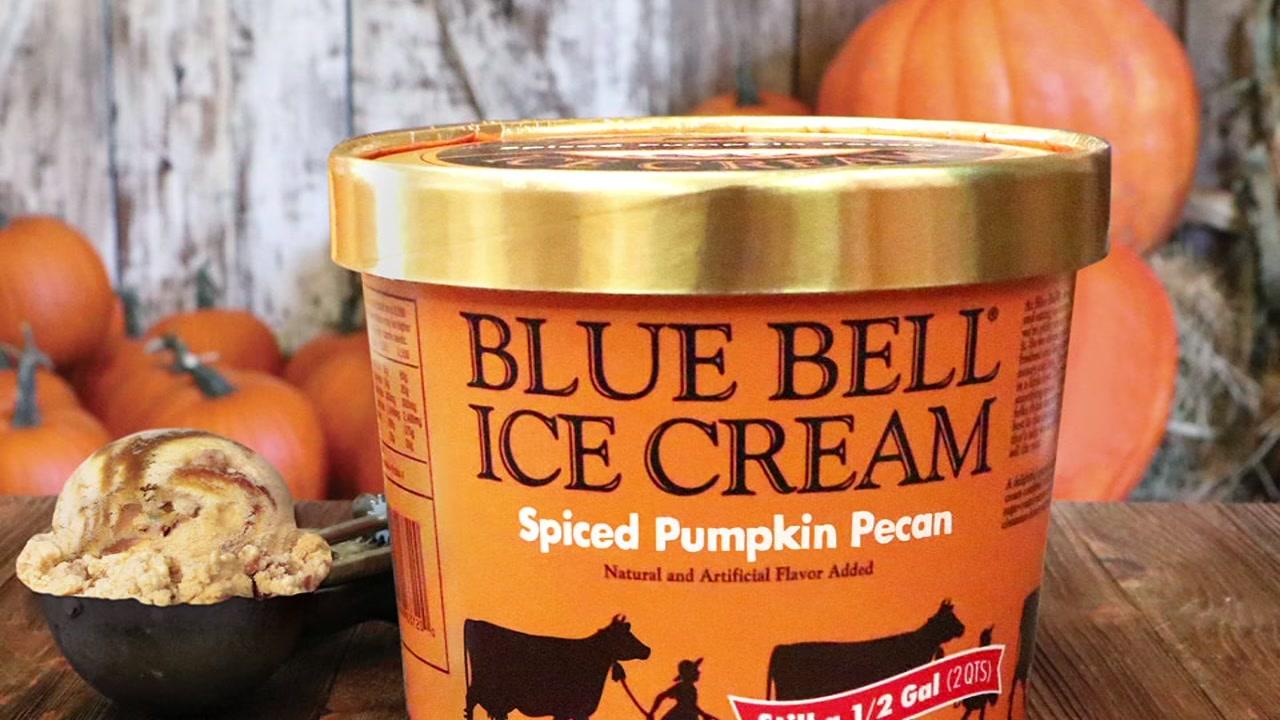 Blue Bell releases Spiced Pumpkin Pecan flavor
