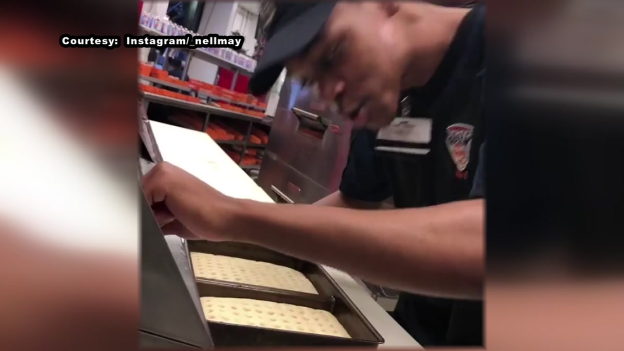Stadium worker fired after hes recorded spitting on pizza