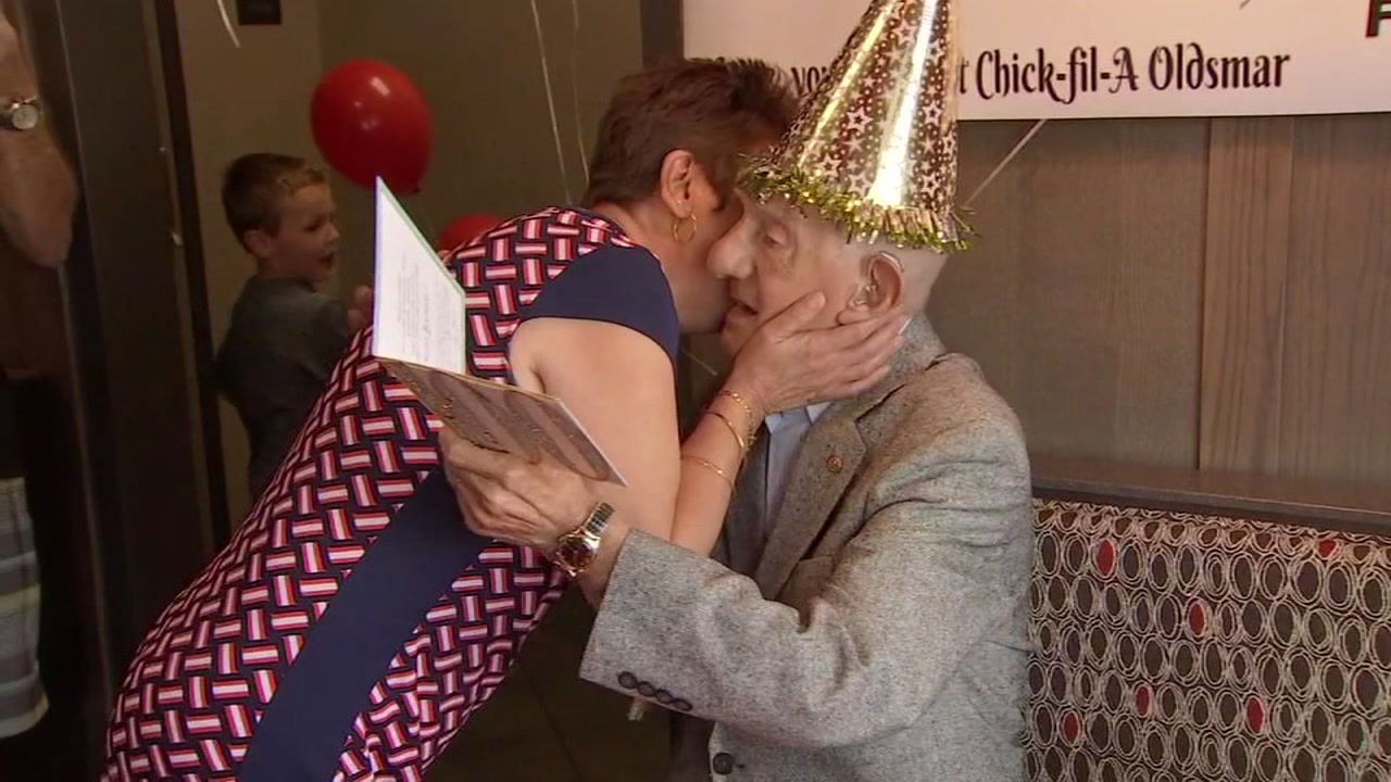 After celebrating his 100th birthday at Chick Fil A, this regular customer was giving free food for the rest of his life.