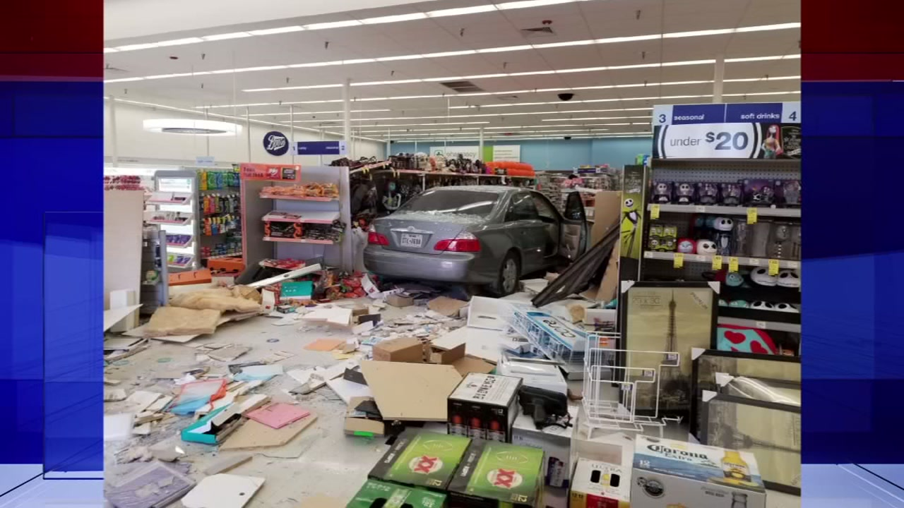 Car slams into a Walgreens. No one hurt.