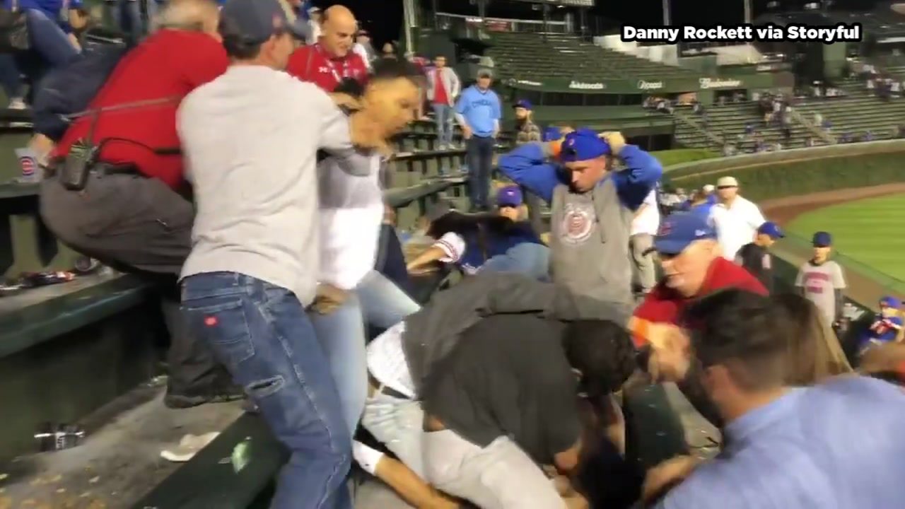 Huge fight breaks out at Wrigley Field