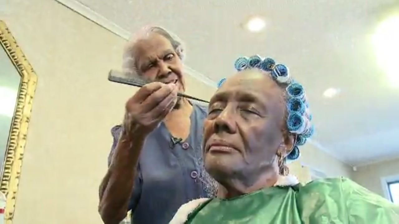 99-year-old woman still does hair, plans to retire this year after her 100th birthday.
