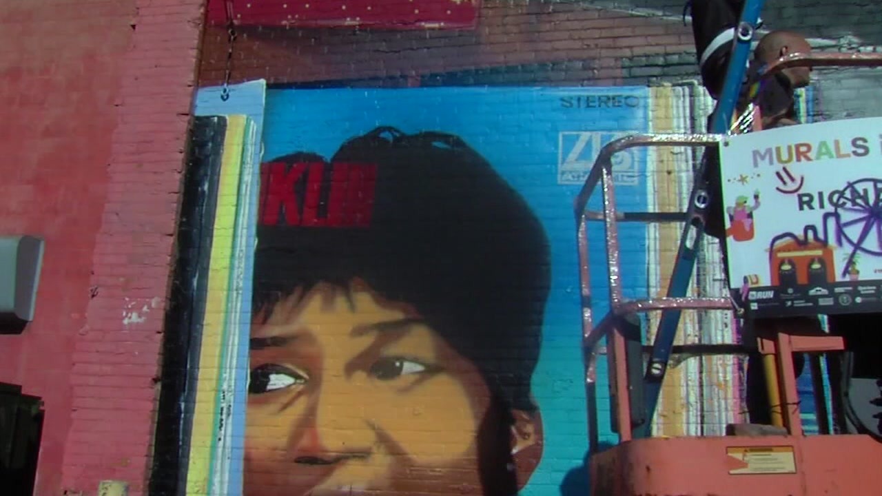 Aretha Franklin mural created by London-based artist vandalized