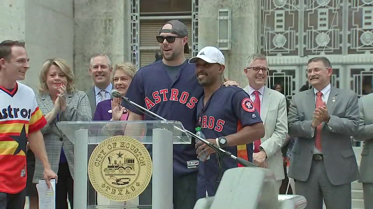 WEAR ORANGE: City of Houston sends off Astros into title defense