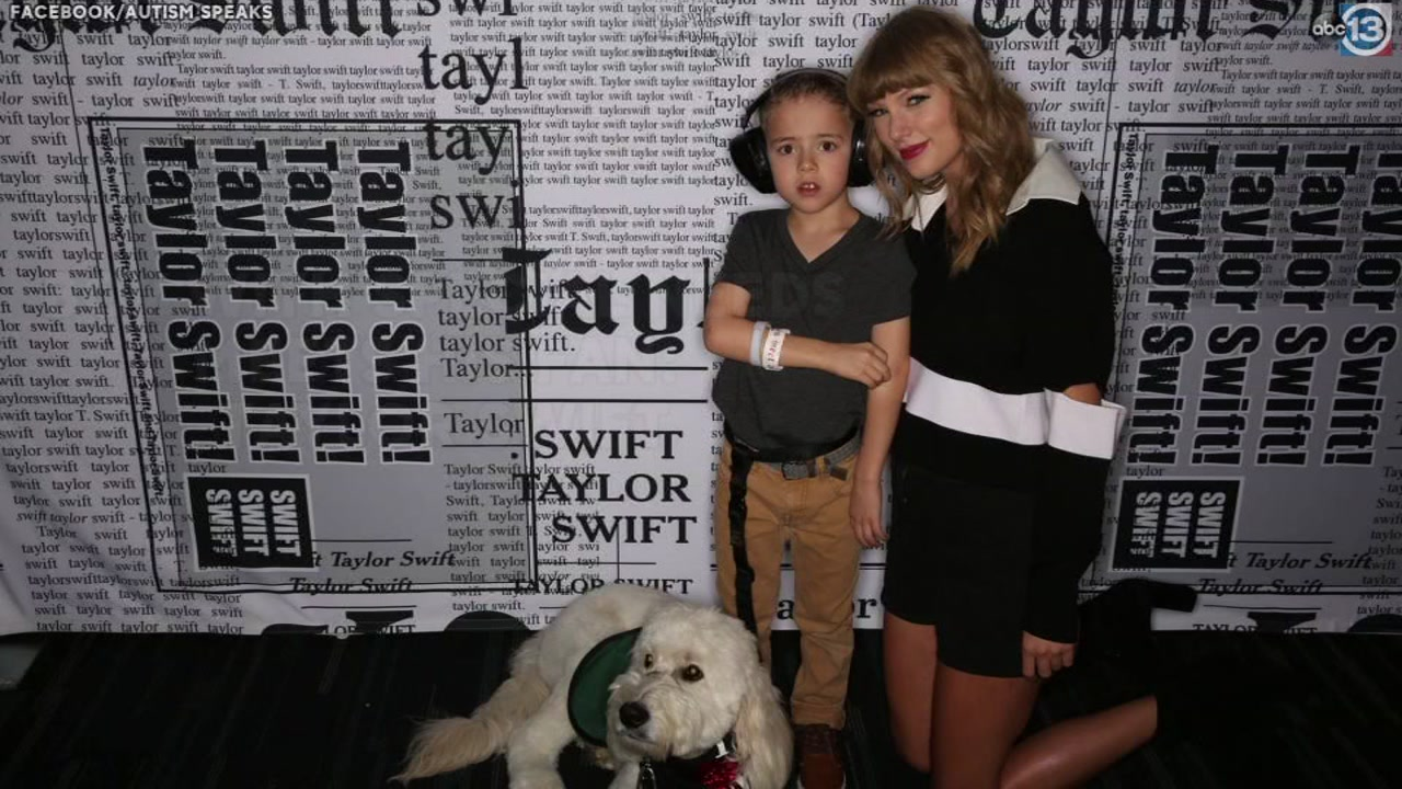 Taylor Swift meets boy who received service dog from her