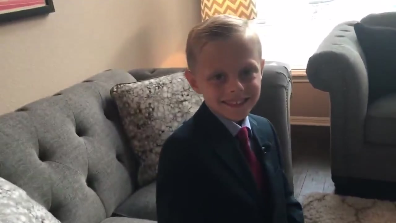 OUTFITTING CONFIDENCE: Michael Strahan comes through for Katy boy teased for wearing suits to class