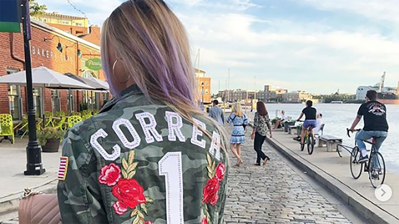 Check out these super cool denim jackets the Astros wives are wearing