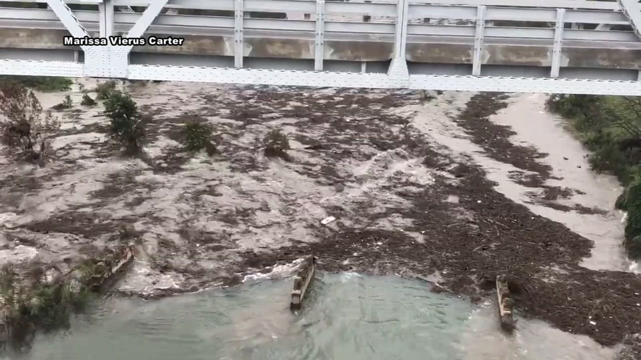 Llano River breaks banks and four are missing after flooding.
