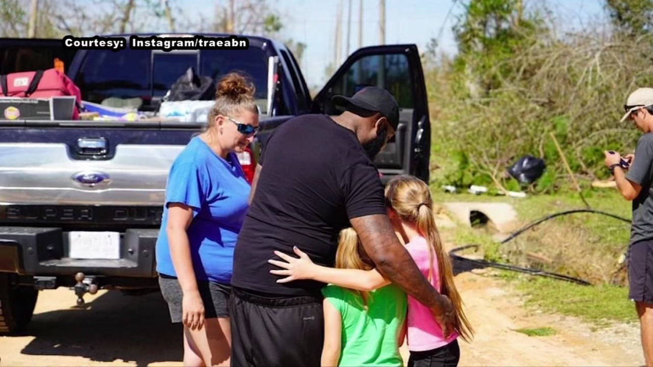 Trae tha Truth helps those affected by Hurricane Michael