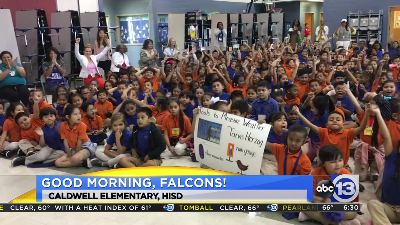 Travis Herzog visits Caldwell Elementary in southwest Houston