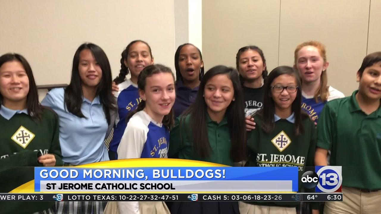 Travis Herzog visits St. Jerome Catholic School in Spring Branch
