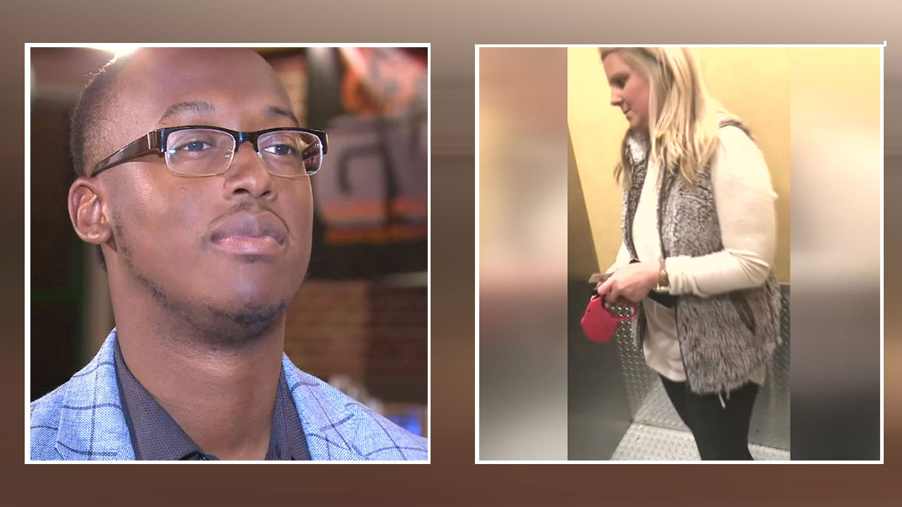 Woman fired after blocking man from entering his building