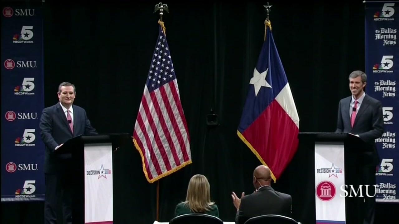 ON THE TRAIL: Cruz and ORouke prepare for tonights debate