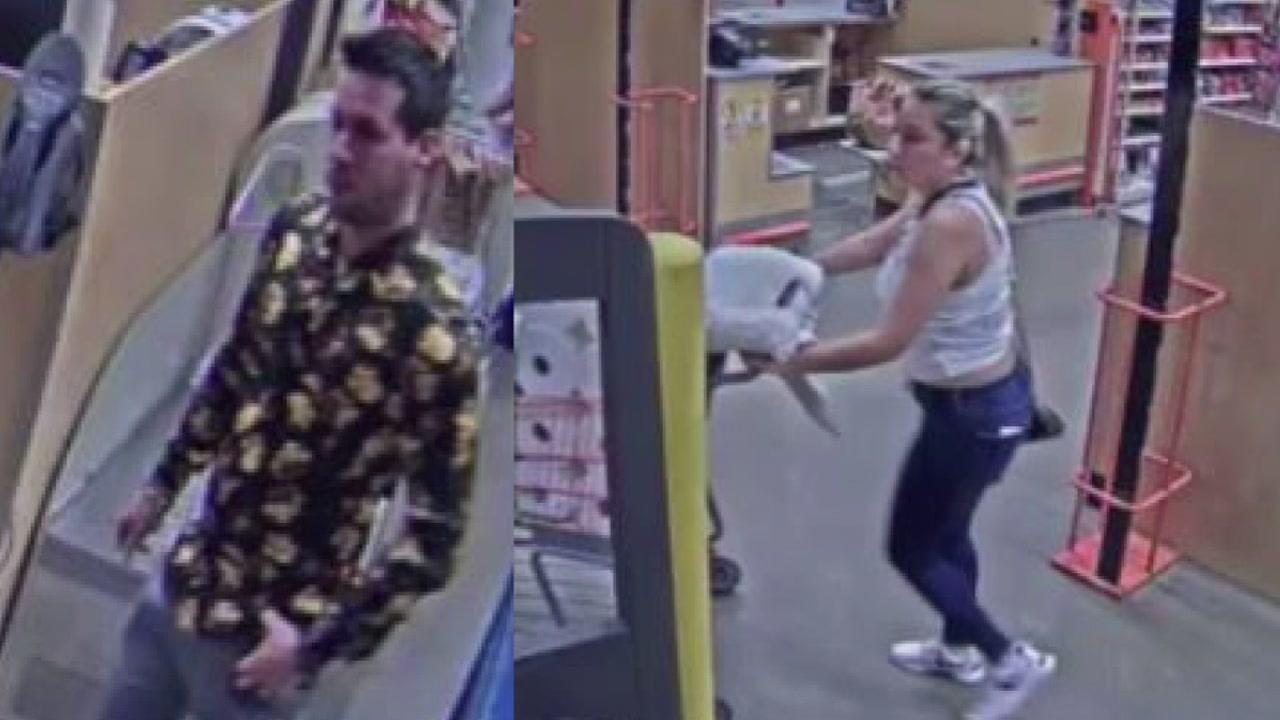 Surveillance video shows pair using skimmed debit car at Pasadena Home Depot