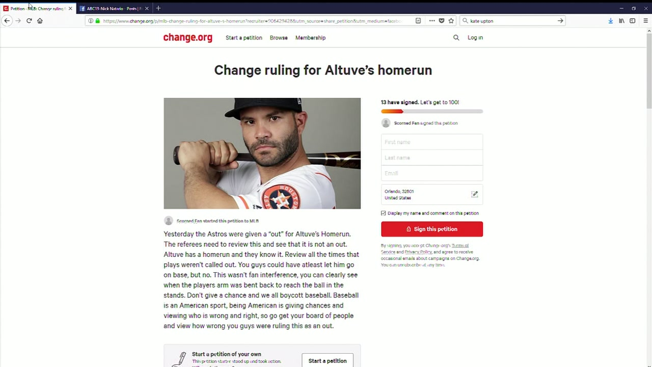 Petition created for MLB to give Altuve his home run or fans will boycott