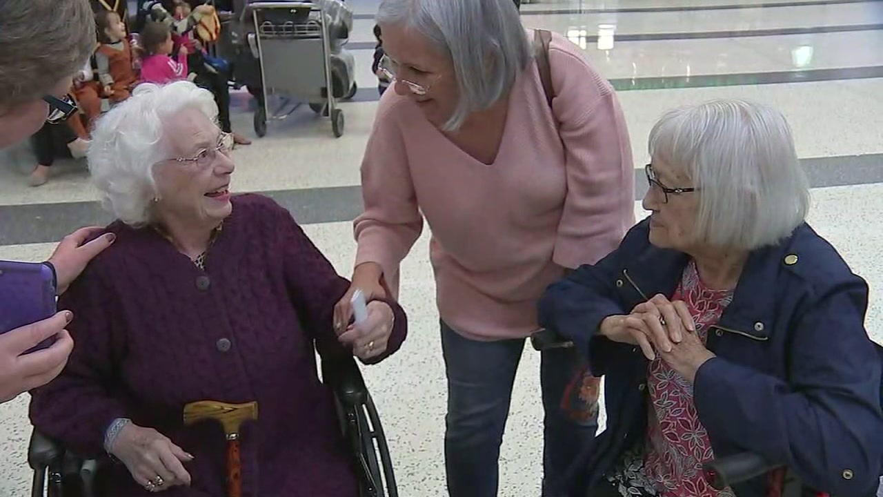 An emotional reunion between three siblings unraveled at Houstons Bush Intercontinental Airport on Thursday night.