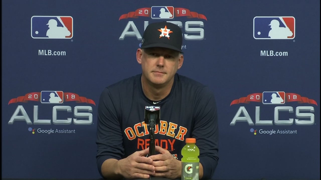 Before ALCS Game 5, Astros manager A.J. Hinch sent a message to fans who may be still fixated on the previous games controversial call.
