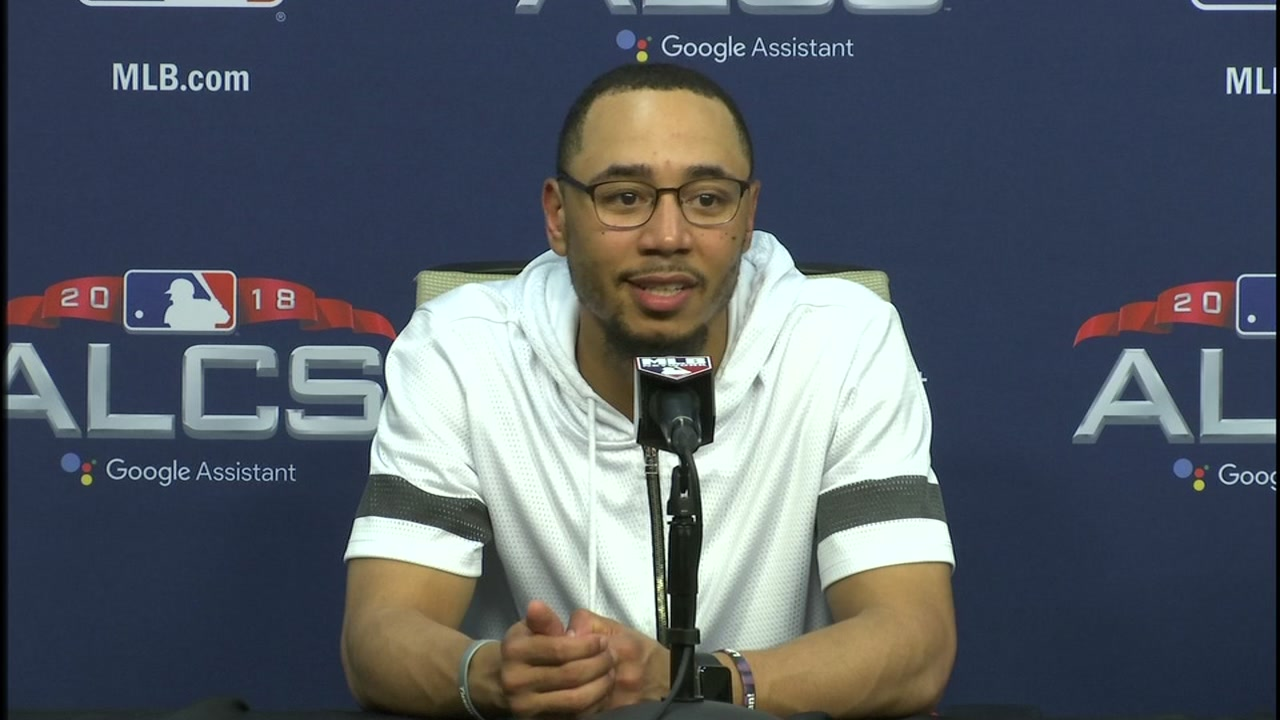 Mookie Betts said he was positive he was going to catch the ball, that eventually ended up being an interference call.