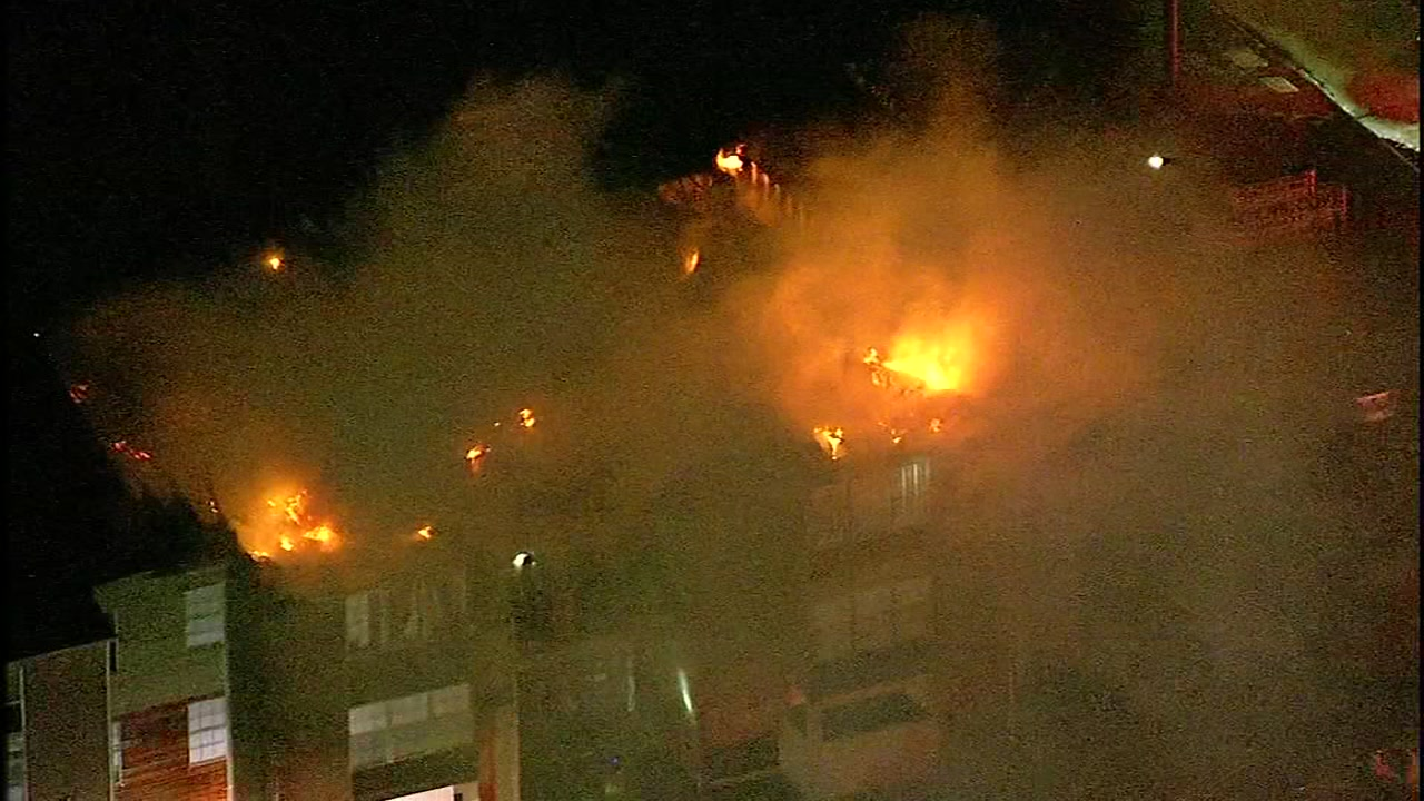 Neighbors managed to escape a fire that ripped through their apartment complex.