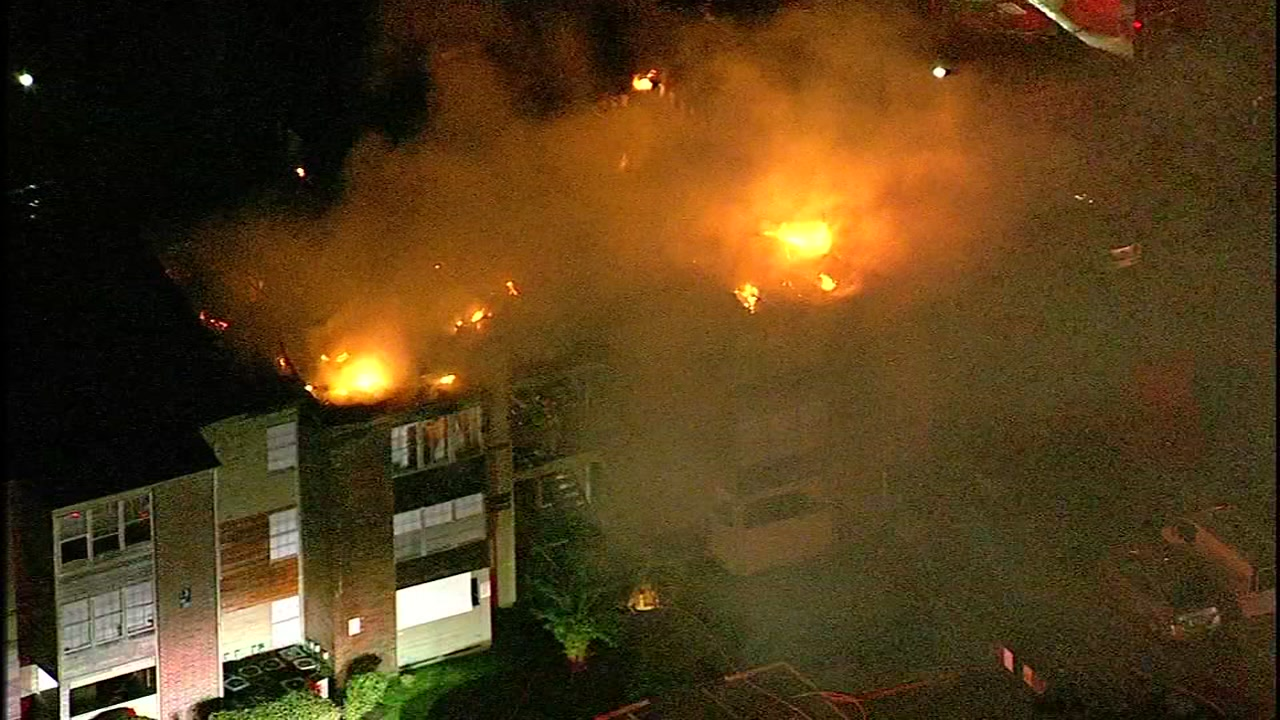 A fire tore through an apartment complex, but residents made it out safely.