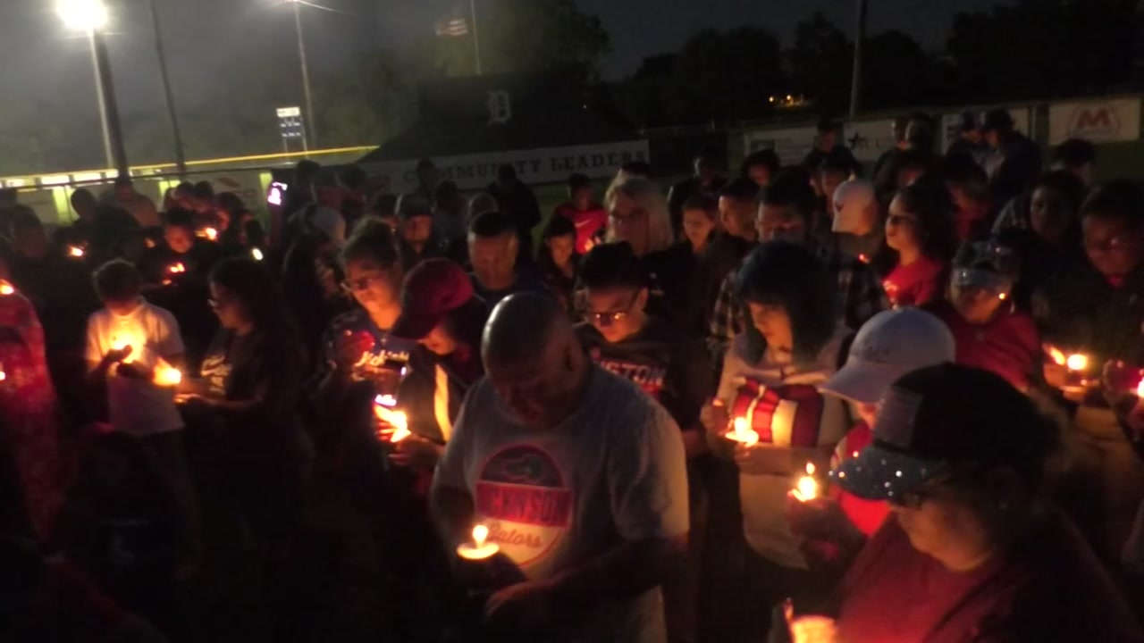 Candlelight vigil honors Dickinson Little League coach killed in hit-and-run accident