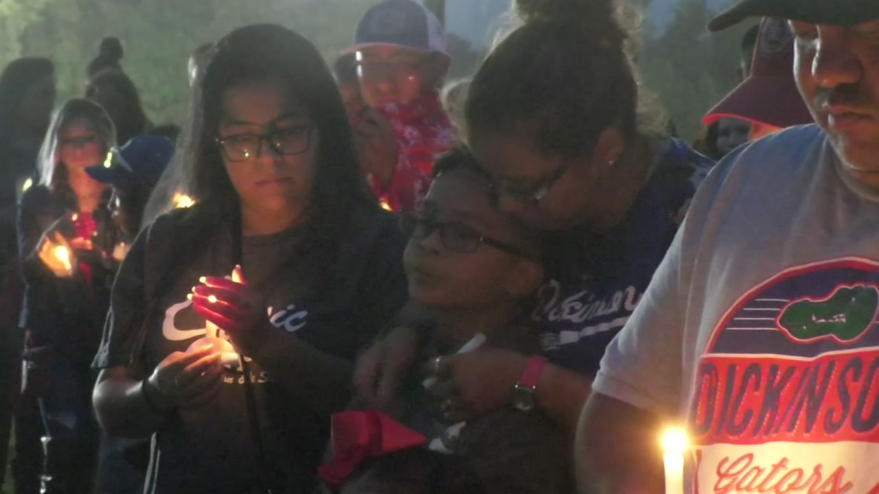 Candlelight vigil honors Dickinson Little League coach killed in hit and run accident