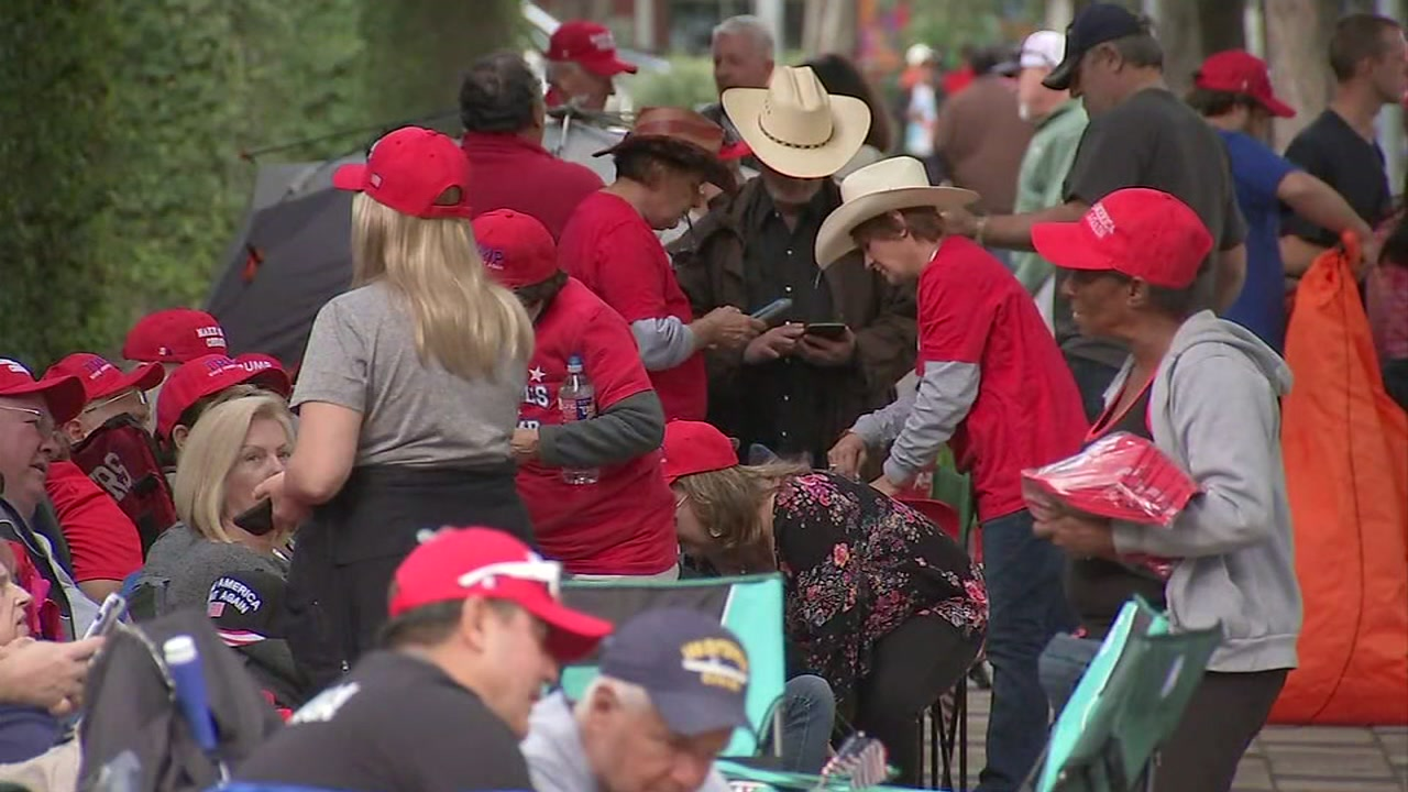 ABC13s Deborah Wrigley looks at the preparations and the crowds expected for the Make America Great Again rally in Houston.