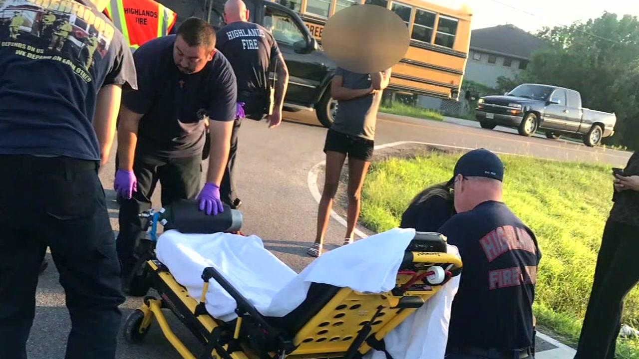 Goose Creek ISd student hit outside bus