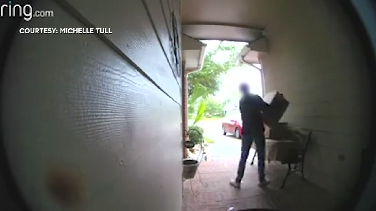 A Ring doorbell helped a Seabrook homeowner scold a woman caught taking packages off her front porch.