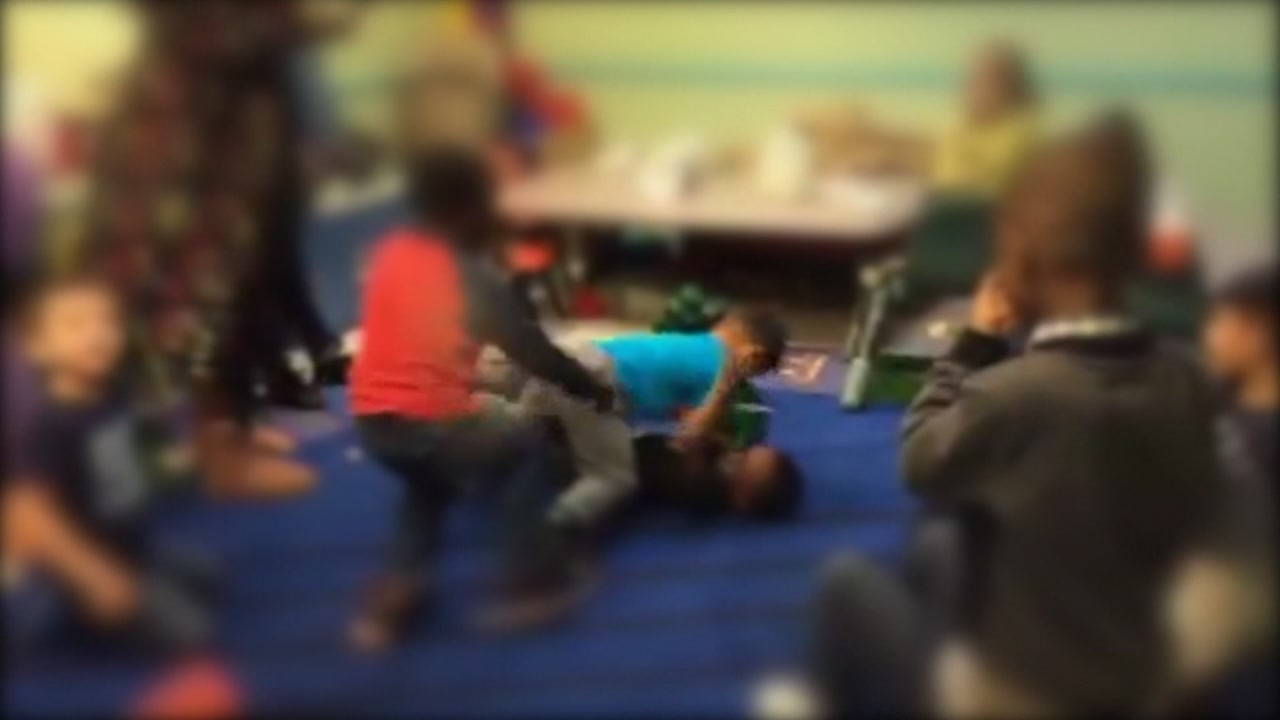 Video shows children at a day care with boxing gloves, punching each other in an alleged fight club.