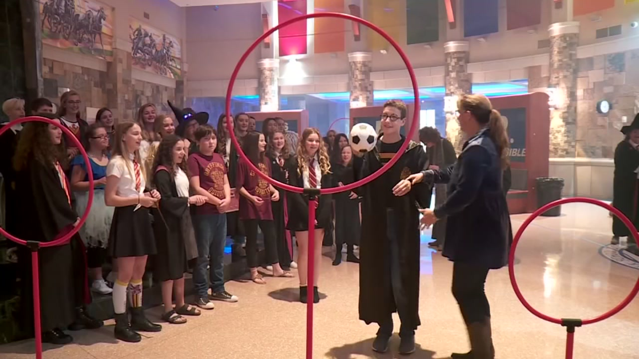 Middle school students transformed their school into Hogwarts Castle to help a classmate fighting a rare illness.