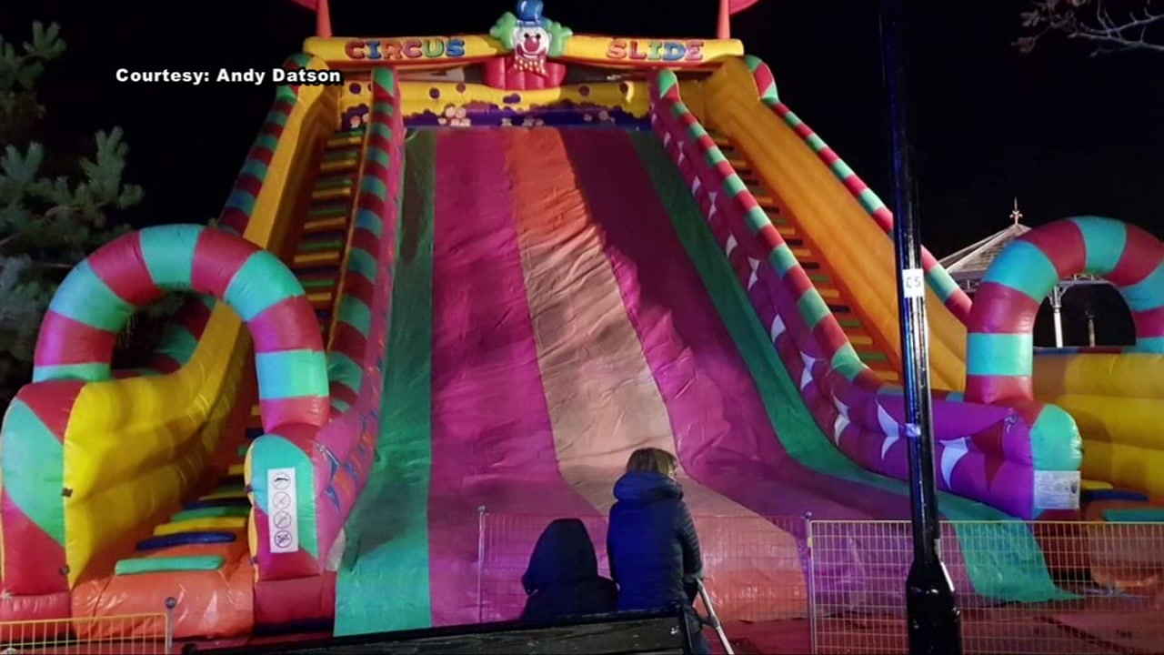 8 kids injured after falling from inflatable slide in London